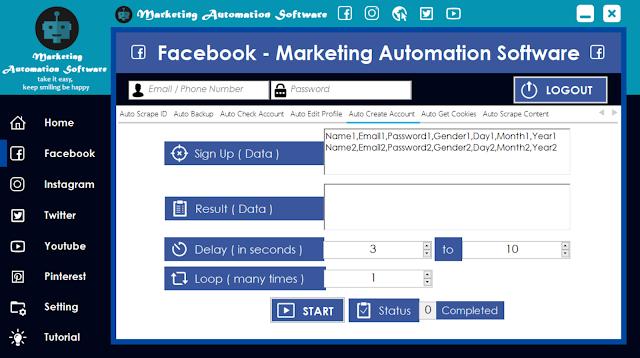 Cara Cepat Membuat Akun Facebook Secara Automatis
