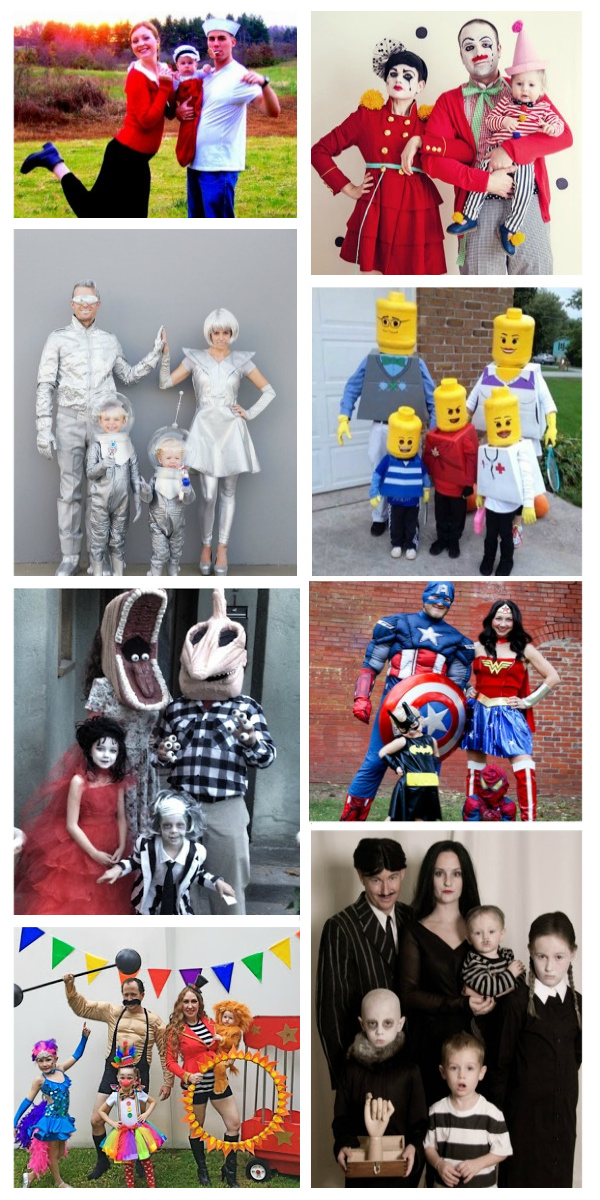 76 FAMILY COSTUME IDEAS FOR HALLOWEEN.  People are so creative!  I love these! #growingajeweledrose #familyhalloweencostumes #familycostumes #halloweencostumesfamily #halloweencostumesforkids #halloweendiy #familycostumeswithkids #familyhalloweencostumeswithkids #halloween #halloweencostumes #costumeideas