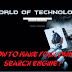 How to make your own search engine !