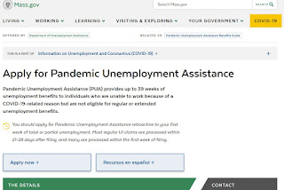 Pandemic Unemployment Assistance (PUA) beginning at 8:30 AM today (4/20/20)