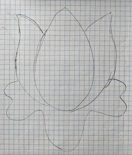 Stylized tulip for possible flower on the quilt border