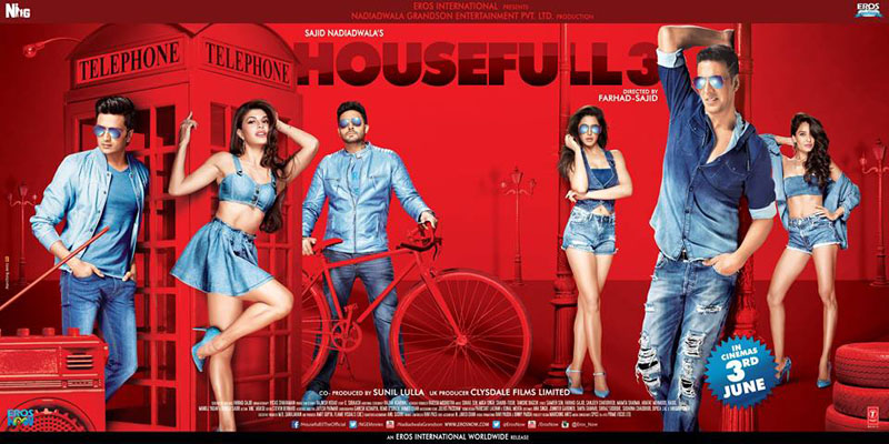 Latest Akshay Kumar Movie Housefull 3 (2016) box office collection Verdict (Hit or Flop) wiki, report New Records, Overseas day and week end.