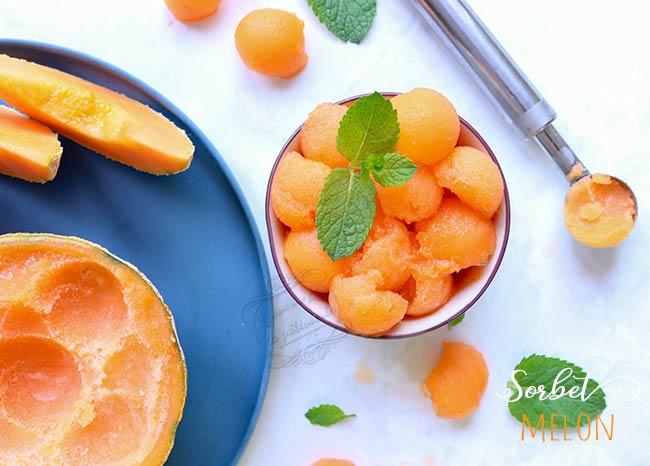 recette sorbet melon