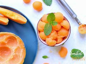 Sorbet melon maison