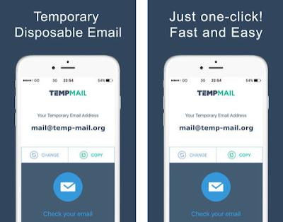 تطبيق لإنشاء بريد مؤقت على هاتفك الأندرويد و الآيفون