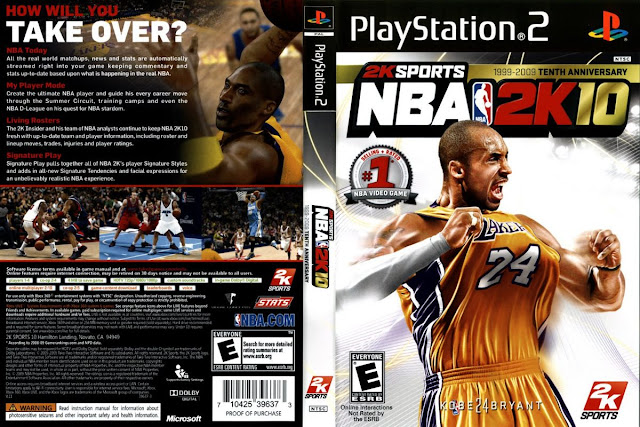 Descargar NBA 2K10 iso NTSC-PAL playstation 2: Es un videojuego de baloncesto  de simulación desarrollado por Visual Concepts y publicado por 2K Sports. Fue lanzado en octubre y noviembre de 2009 para Microsoft Windows, PlayStation 3, PlayStation 2, PlayStation Portable, Xbox 360 y Wii.