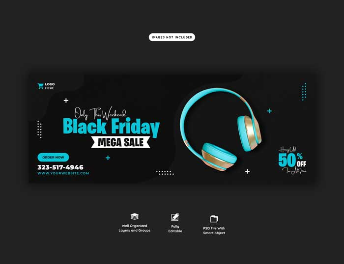 Black Friday Mega Sale Banner Template