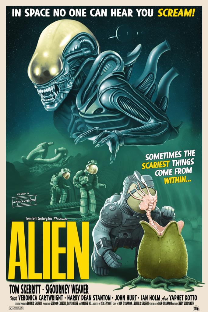 The Geeky Nerfherder Coolart Alien Prints By Tom Walker