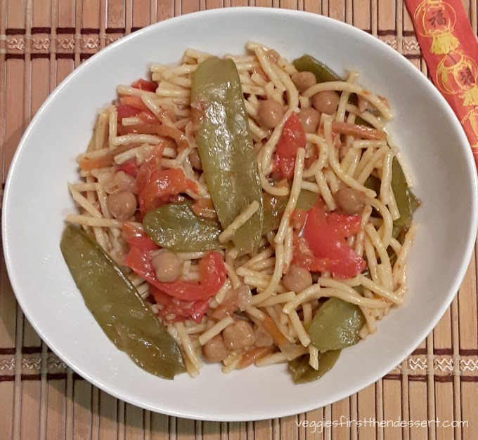 Crockpot Vegetable Lo Mein