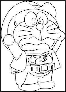 Gambar Doraemon Hitam Putih 2