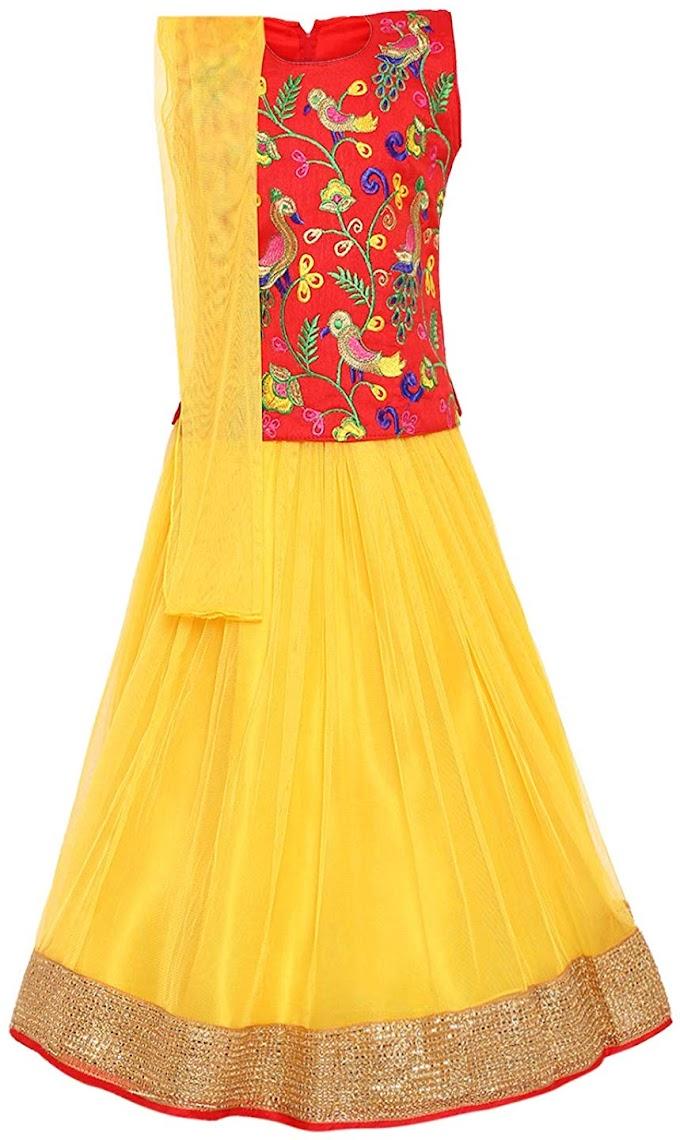 Aarika Girl's net Lehenga Choli