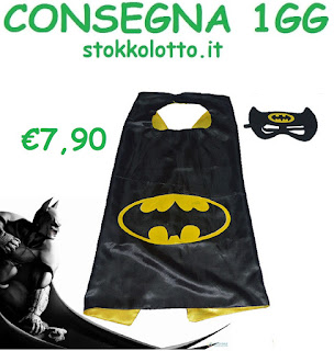 costume maschera carnevale travestimento mantello mantella a tema batman