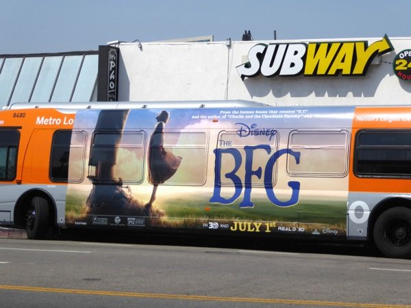 The BFG movie bus advert
