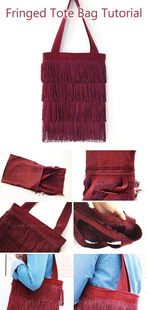 Fringed Tote Bag Sewing Tutorial