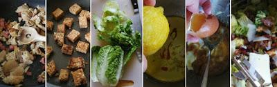 Zubereitung Caesar Salad mit Hähnchen