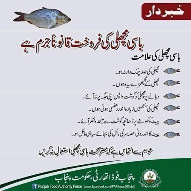 SELLING OF ROTTEN FISH IS A CRIME