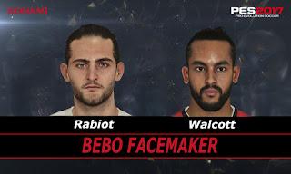 PES 2017 Faces Adrien Rabiot & Theo Walcott by Bebo