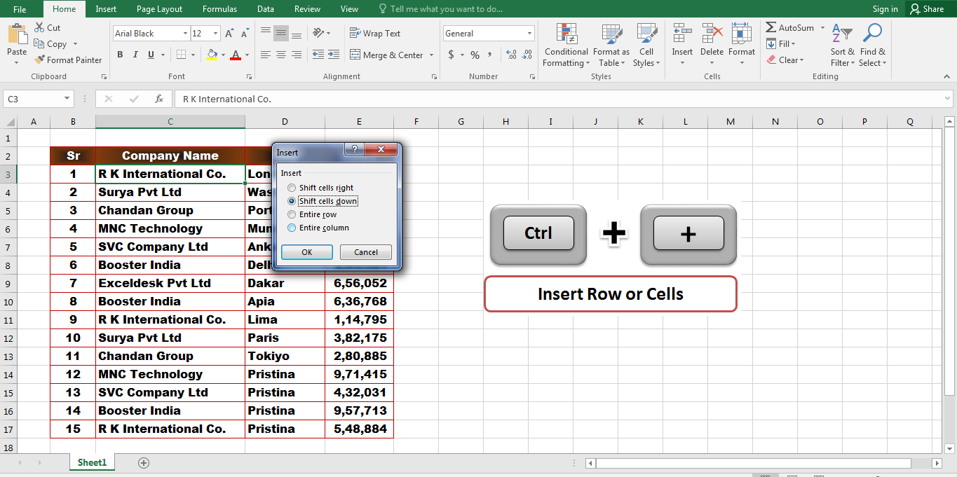 5 Important Excel Shortcut Keys That Make You An Expert In MS Excel Select,Ctrl + Addition