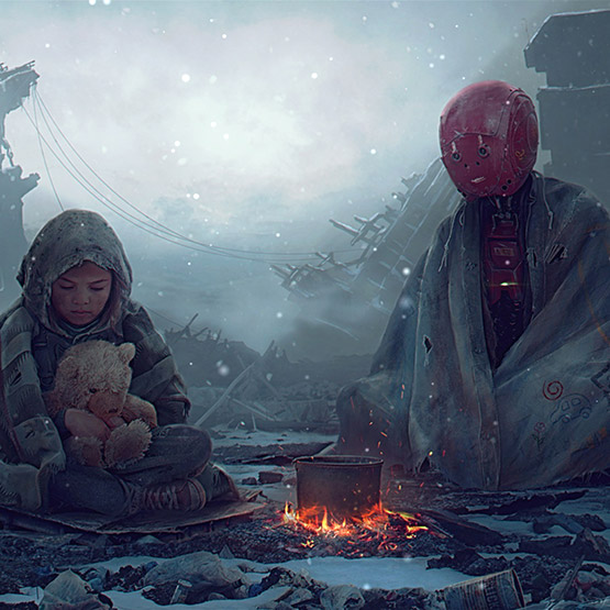 Futuristic Friendship + Ambience Sounds Wallpaper Engine