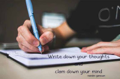 Write down your thoughts