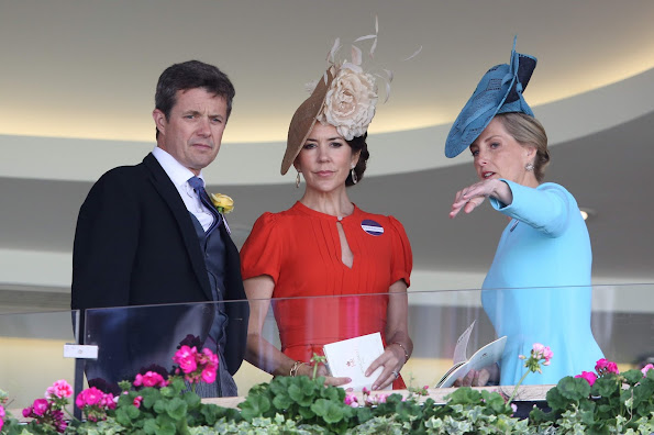 Catherine, Duchess of Cambridge, Sophie, Countess of Wessex, Denmark's Crown Princess Mary, Crown Prince Frederik, Queen Elizabeth at Royal Ascot 2016