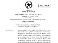 Presiden Teken Perpres 85 Tahun 2020 tentang Kemendes PDTT