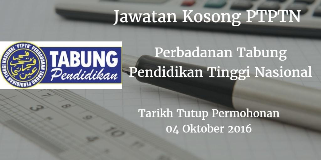 Jawatan Kosong PTPTN 04 Oktober 2016