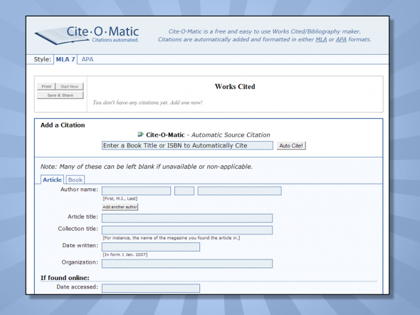 free online tools to cite sources and format references for your