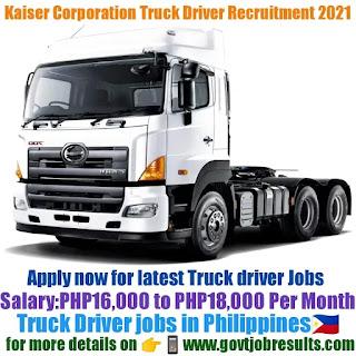 Kaiser Heavy Equipment Corporation Truck Driver Recruitment 2021-22