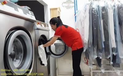Dịch vụ 1 - Giặt ướt không sấy / giá rẻ nhất tại giặt là hấp sấy Q.A.P