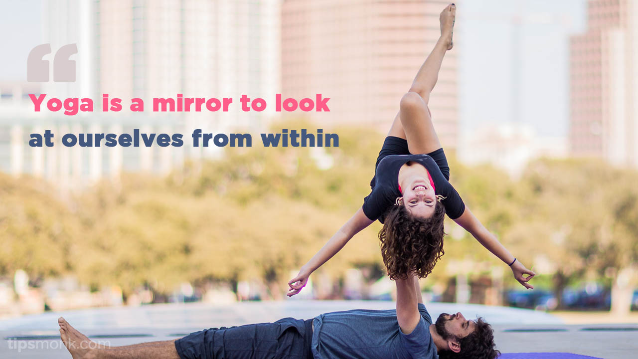 Yoga quotes with poses images - Tipsmonk