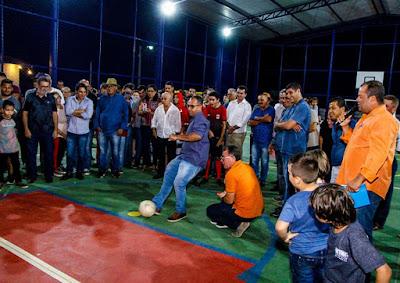 Inauguração da Quadra Poliesportiva do Povoado de Alvorada