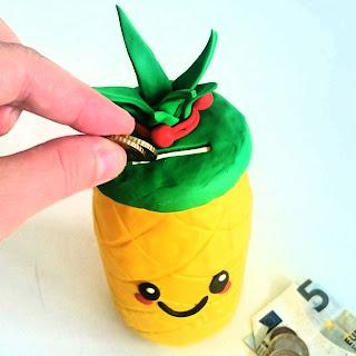 Gut bekannt Saperlotte-info: Ananas Spardose mit Fimo selber machen TN22