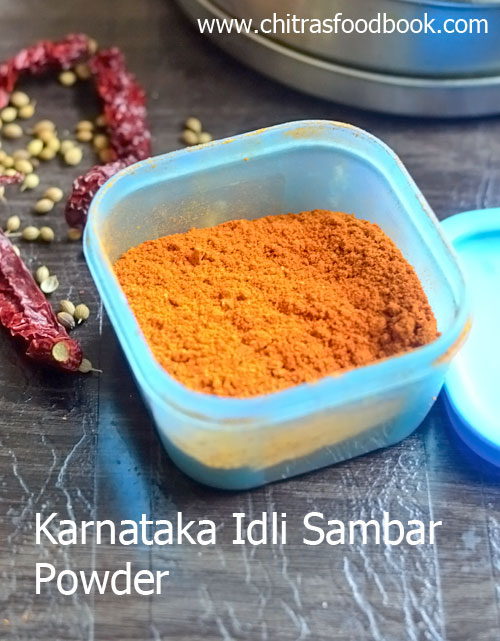 Karnataka hotel style idli sambar powder