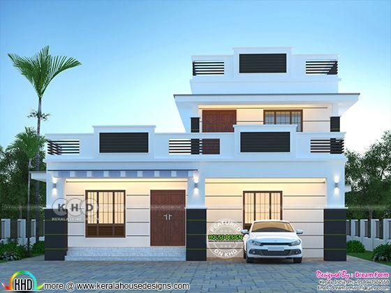 2105 square feet modern house design