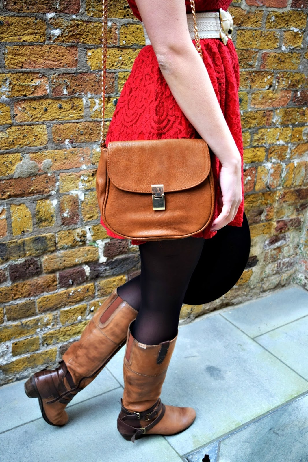 tan leather satchel from stradivarius