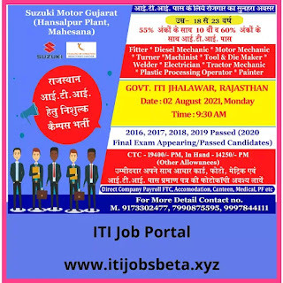 ITI Job Campus Placement In Rajasthan India