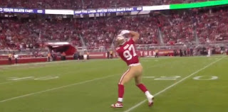 Nick Bosa   Cleveland Browns vs San Francisco 49ers NFL Monday Night Football game