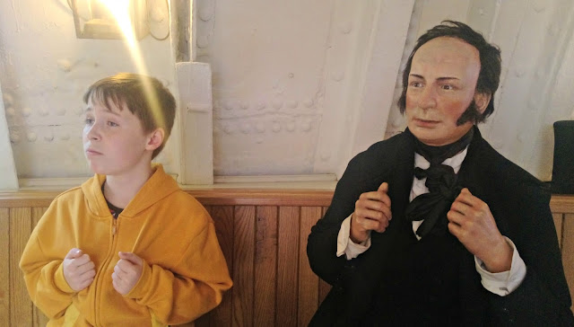 Isambard Kingdom Brunel with Child Impersonator!