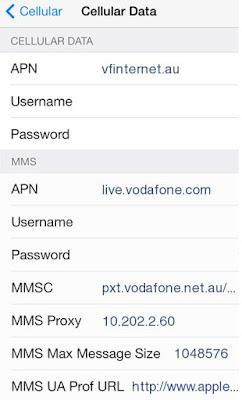 AAPT APN Settings for iPhone 6