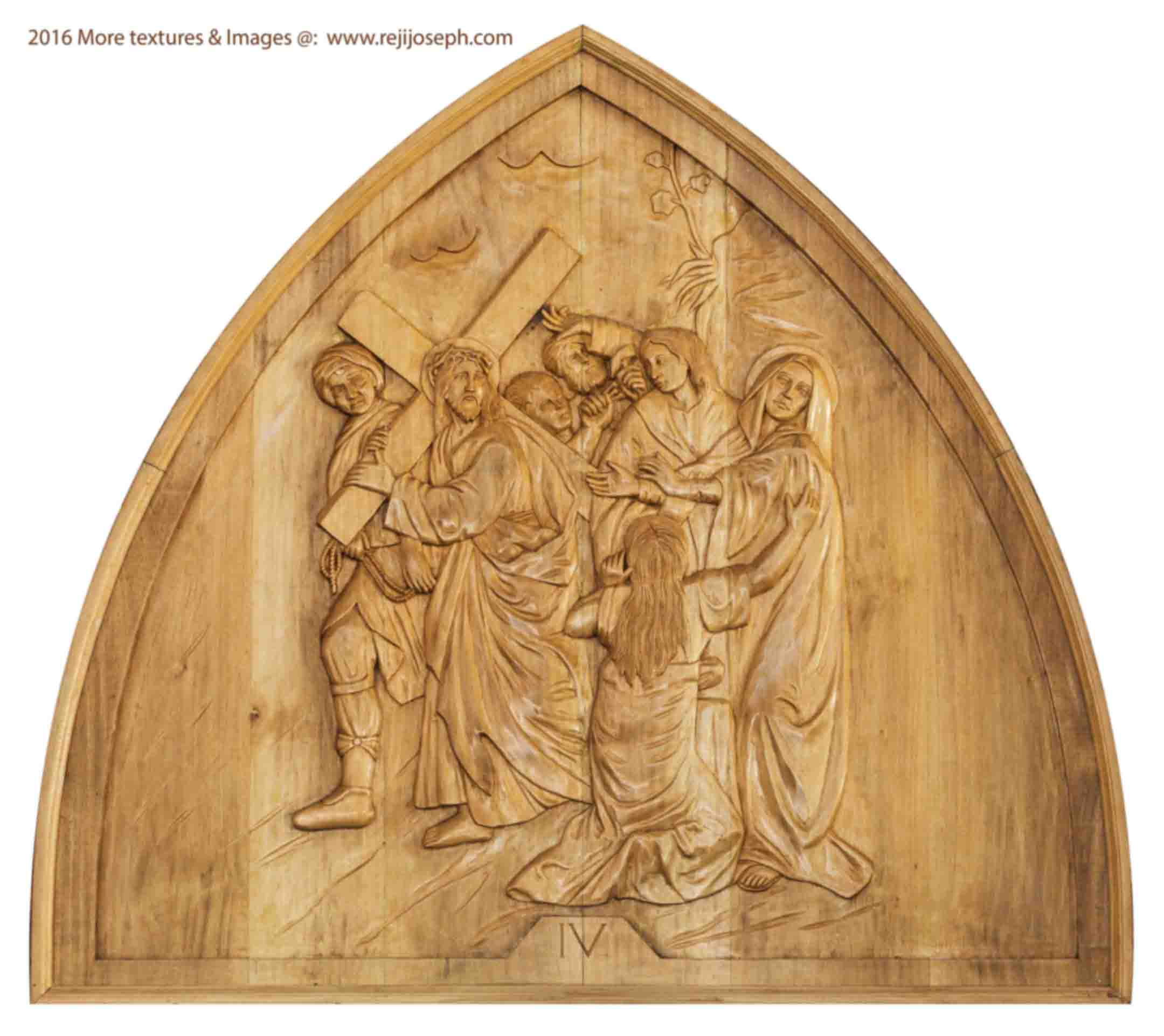 Way of the cross wooden relief 004
