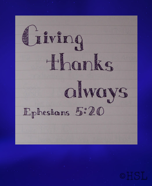 Ephesians 5:20, Scripture Writing