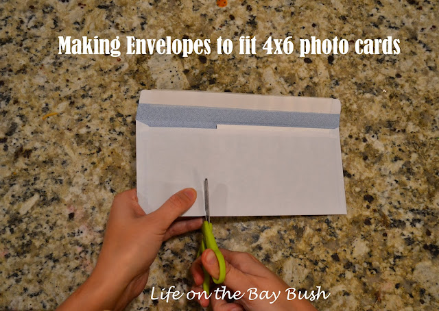 How to make envelopes to fit 4x6 invites