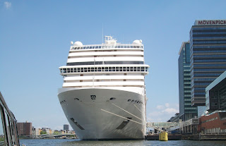 Cruiseship in Amsterdam