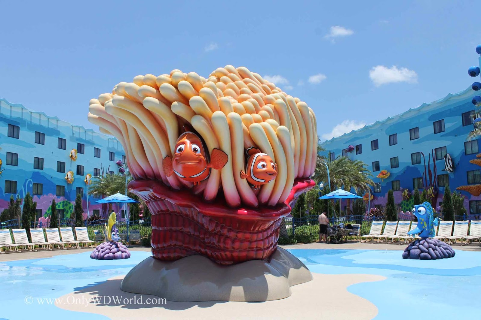 Disney Pixar Movie Finding Nemo Themed Pool At Disney 39 S Art Of Animation Resort Disney World