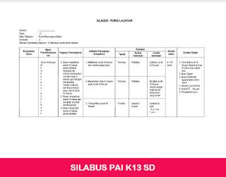 Silabus K13 PAI SD
