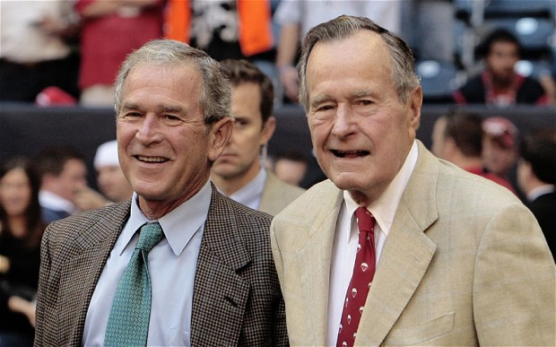 O ex-presidente George H.W Bush está no hospital após queda