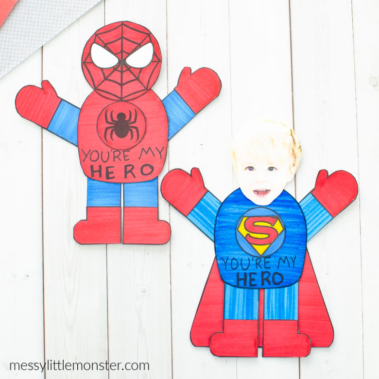Superhero Father's Day craft for kids