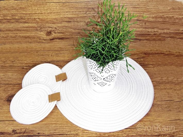 DIY: Untersetzer aus Seil nähen - Sewing rope rugs