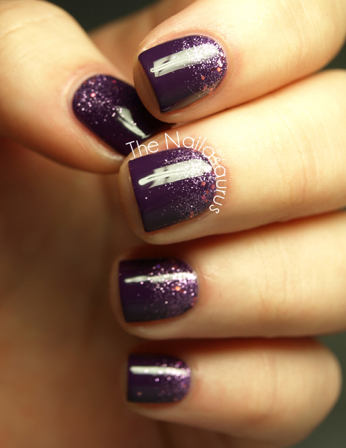 Snippet: Purple Glitter Gradient - The Nailasaurus
